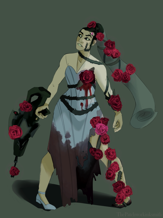 Widowmaker as the Rose Bride by @undergroundarchive