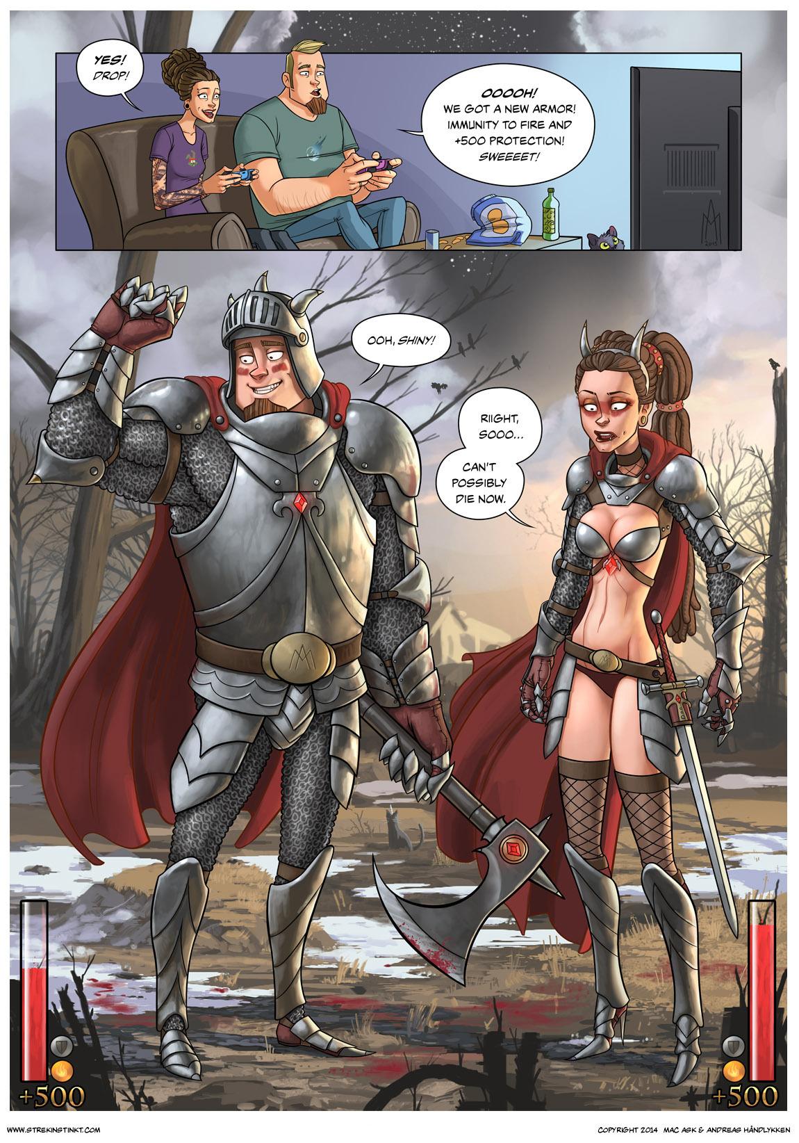 Bikini Armor Battle Damage